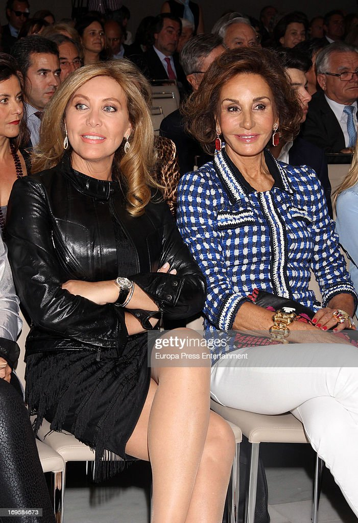 Norma Duval and Nati Abascal attend the launch of 'Enrique Ponce Un Torero Para La Historia' on May 27 2013 in Madrid Spain