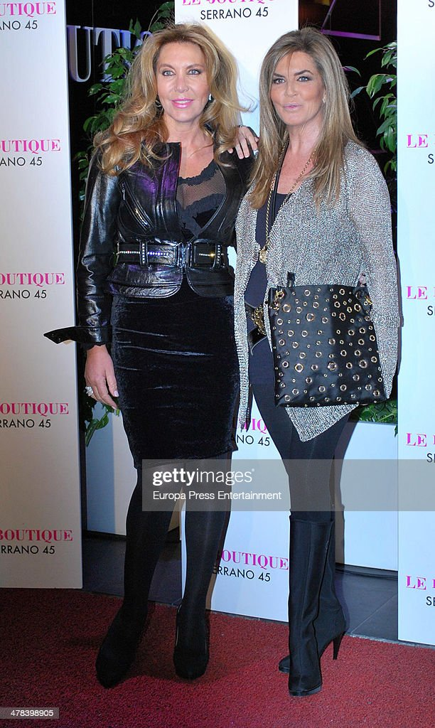 Norma Duval and Susana Uribarri attend the 42th birthday party of Nicolas VallejoNajera at Le Boutique club on March 12 2014 in Madrid Spain