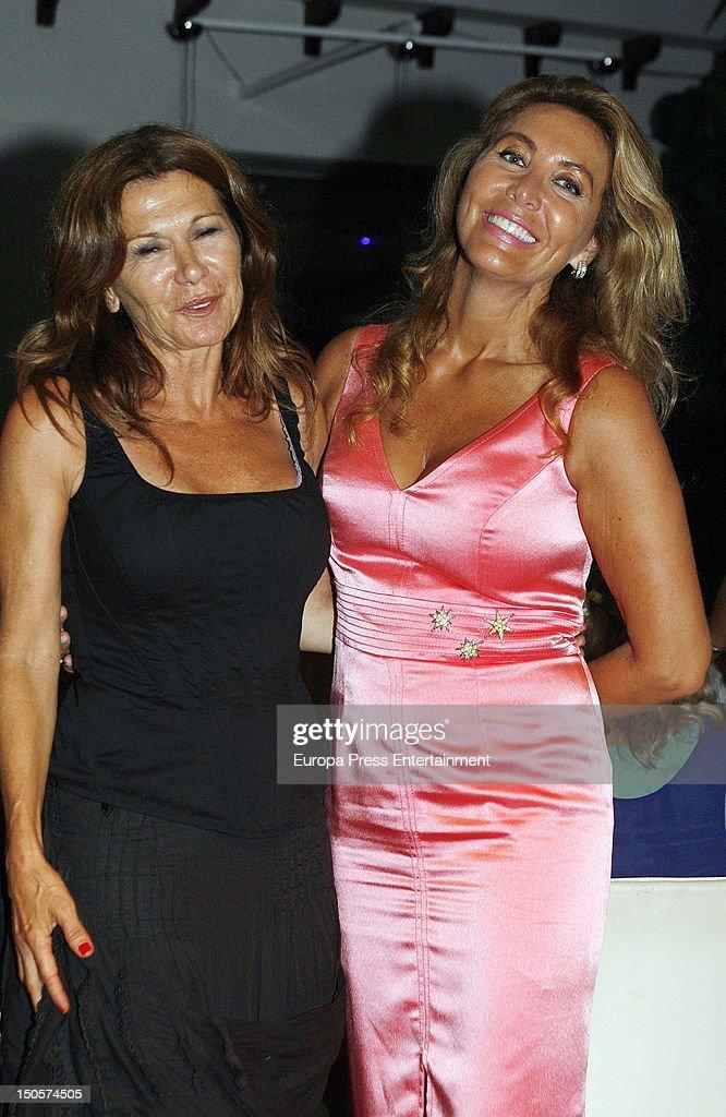 Norma Duval attend Piluca Bayarri Fashion Show at Km 5 Restaurant on August 21 2012 in Palma de Mallorca Spain
