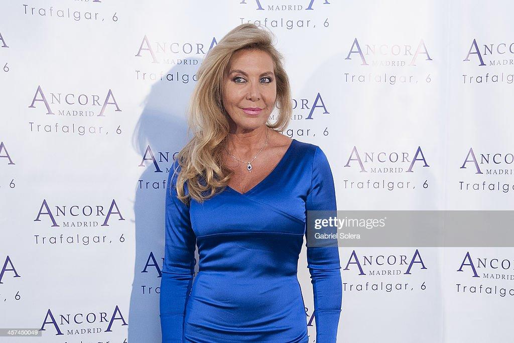 Norma Duval attends 'Lo Que Escondian Sus Ojos' book presentation at Ancora Restaurant on December 17 2013 in Madrid Spain