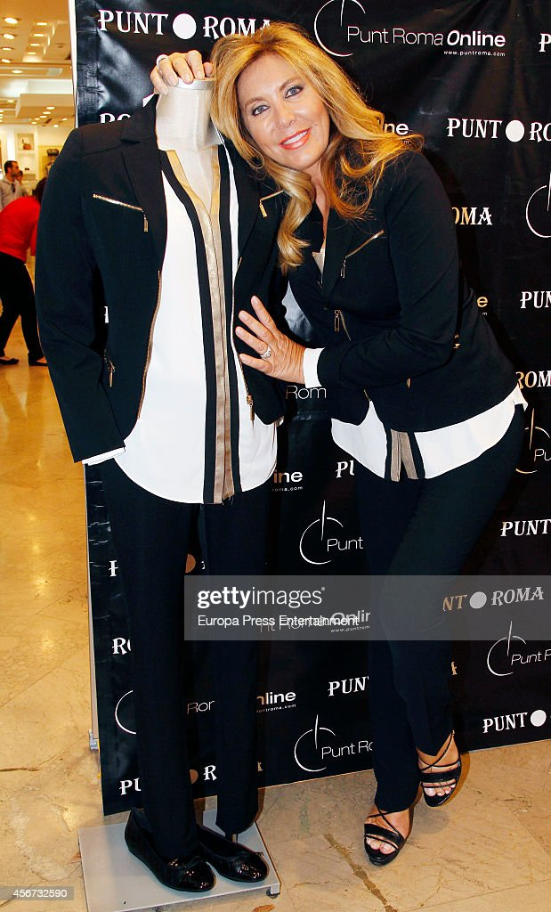 Norma Duval attends Punto Roma fashion collection presentation on October 3 2014 in Madrid Spain