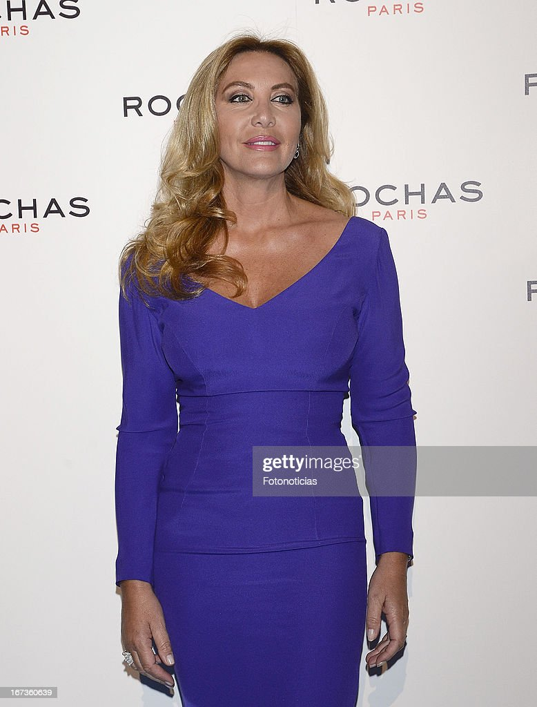 Norma Duval attends 'Tribut to Freshness and Rochas Women' event at the French embassy on April 24 2013 in Madrid Spain