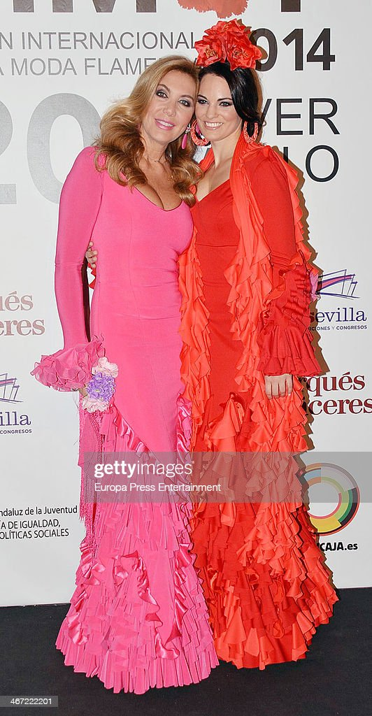 Norma Duval during the second day of the International Flamenco Fashion Show 'SIMOF' on January 31 2014 in Seville Spain