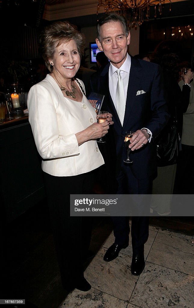 Norma Major (L) and Anthony Andrews attend an after party celebrating the press night performance of the Menier Chocolate Factory's 'Merrily We Roll Along', following its transfer to the Harold Pinter Theatre, at Grace Restaurant on May 1, 2013 in London, England.