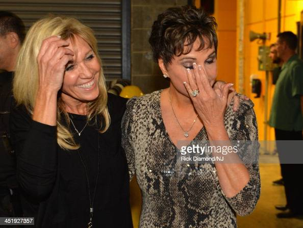 Norma Strait and Nancy Jones attend Playin' Possum The Final No Show Tribute To George Jones at Bridgestone Arena on November 22 2013 in Nashville...