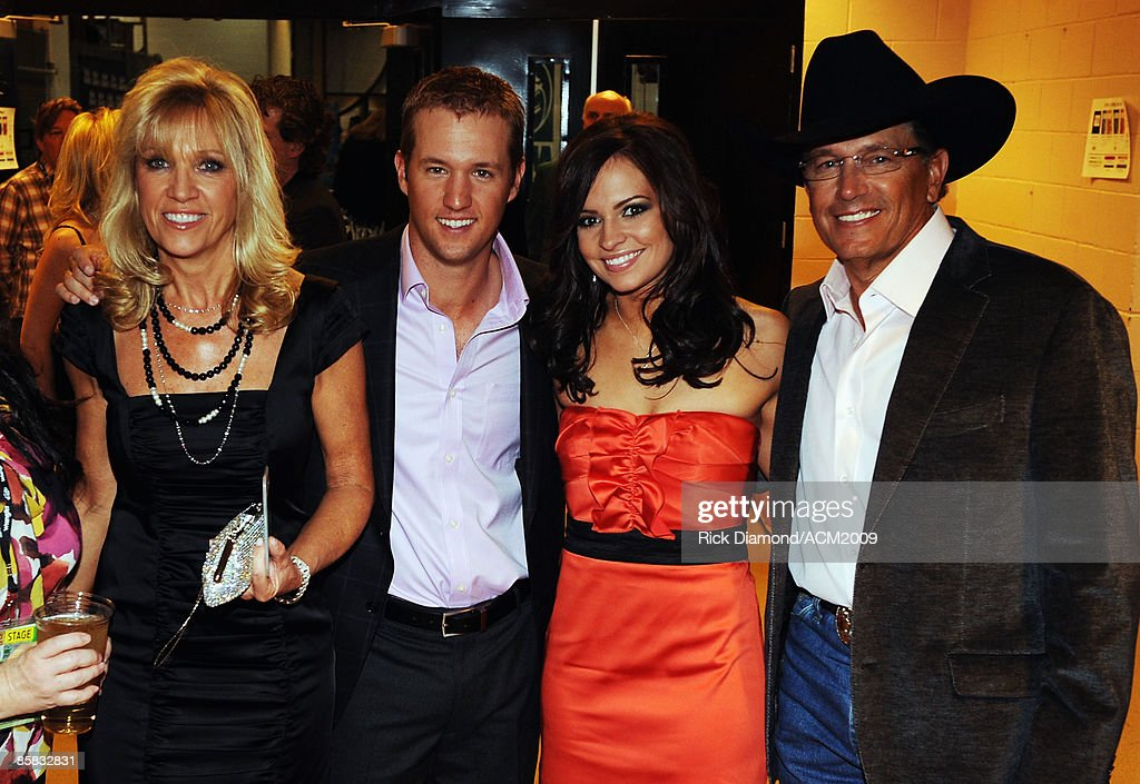Norma Strait, George 'Bubba' Strait Jr., Tamara Shipman, and honoree George Strait pose backstage during the 44th annual Academy Of Country Music Awards' Artist of the Decade held at the MGM Grand on April 6, 2009 in Las Vegas, Nevada.