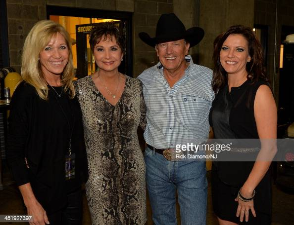 Norma Strait Nancy Jonesand George Strait and Martina McBride attend Playin' Possum The Final No Show Tribute To George Jones at Bridgestone Arena on...