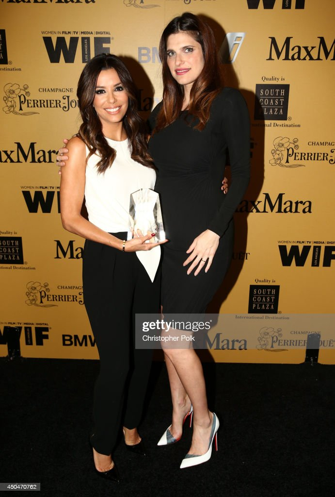 Norma Zarky Humanitarian Award recipient <a gi-track='captionPersonalityLinkClicked' href=/galleries/search?phrase=Eva+Longoria&family=editorial&specificpeople=202082 ng-click='$event.stopPropagation()'>Eva Longoria</a> (L) and actress/director <a gi-track='captionPersonalityLinkClicked' href=/galleries/search?phrase=Lake+Bell&family=editorial&specificpeople=209336 ng-click='$event.stopPropagation()'>Lake Bell</a> attend Women In Film 2014 Crystal + Lucy Awards presented by MaxMara, BMW, Perrier-Jouet and South Coast Plaza held at the Hyatt Regency Century Plaza on June 11, 2014 in Los Angeles, California.