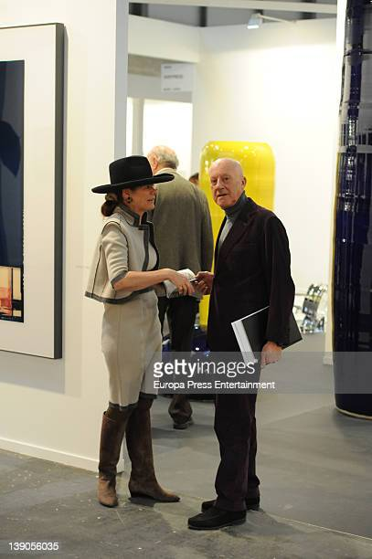 Norman Foster and Elena Ochoa attend International Contemporary Art Fair ARCO 2012 at Ifema on February 15 2012 in Madrid Spain