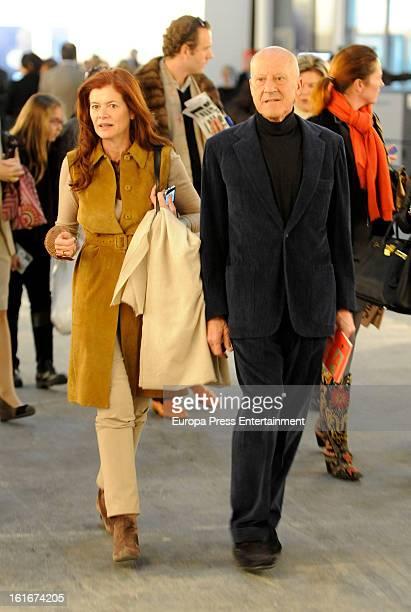 Norman Foster and Elena Ochoa attends International Contemporary Art Fair ARCO 2013 on February 13 2013 in Madrid Spain