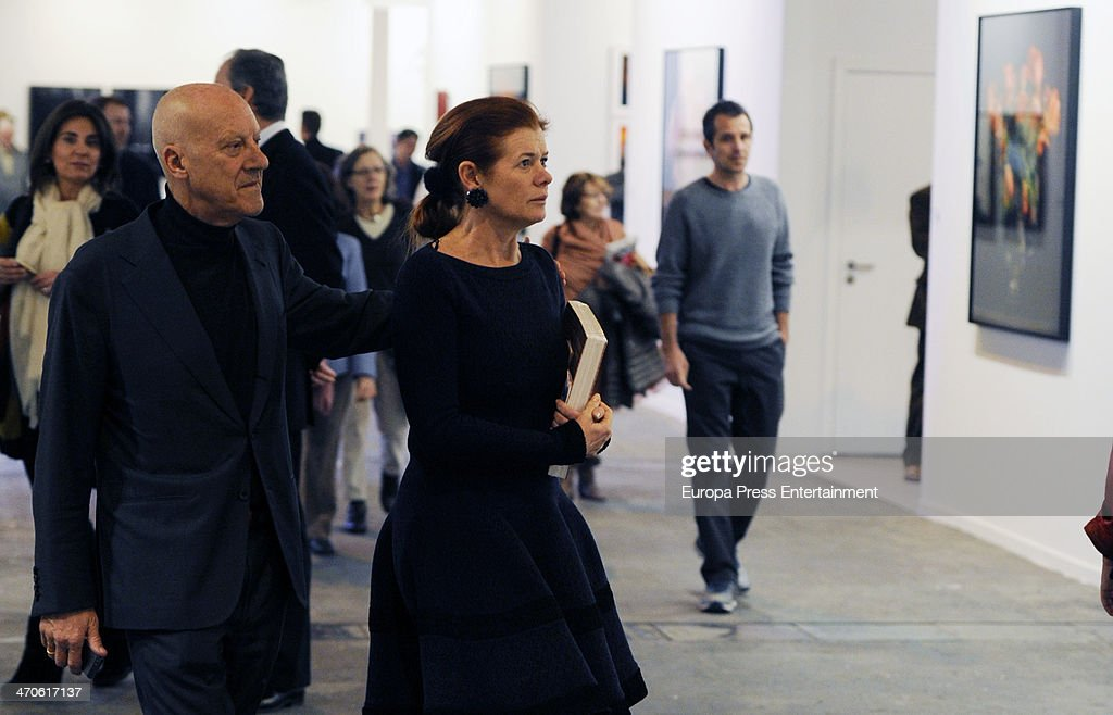celebrities attend arco madrid february ed norman foster and elena ochoa