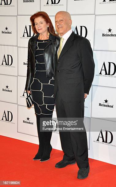 Norman Foster and Elena Ochoa Foster attend AD Awards 2013 at Casino Madrid on February 19 2013 in Madrid Spain