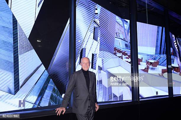 Norman Foster attends Building with History The Exhibit at Hearst Tower on November 17 2016 in New York City