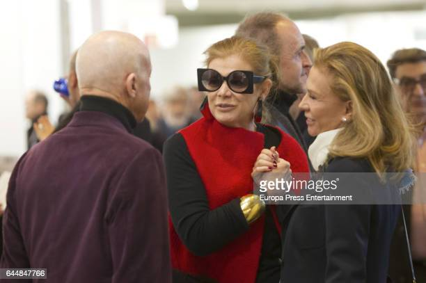 Norman Foster Elena Ochoa Foster and Alicia Koplowitz attend the International Contemporary Art Fair ARCO 2017 at Ifema on February 22 2017 in Madrid...
