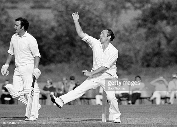 Norman Gifford bowling for Worcestershire during the Northamptonshire v Worcestershire John Player League match played at Milton Keynes on the 11th...