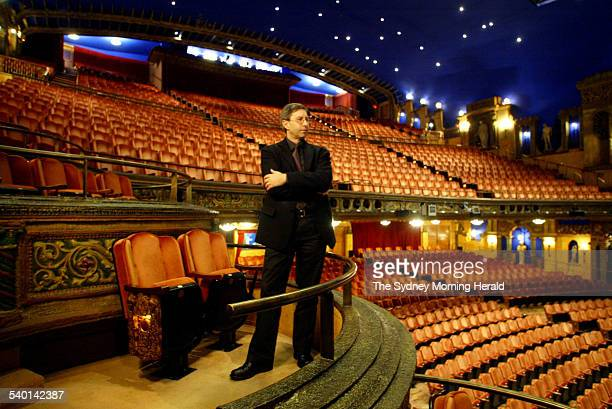 Norman Gillespie CEO of the Opera House at the Capitol Theatre 2 July 2003 The Capital Theatre will host performances while renovations are conducted...