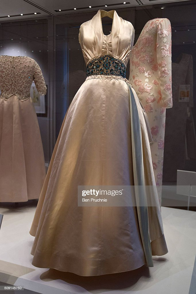 A Norman Hartnell worn by Princess Margaret is displayed at the Fashion Rules Exhibition at Kensington Palace on February 9, 2016 in London, England. The exhibition, that re-opens to the public on February 11, contains pieces including the dress Queen Elizabeth II wore for her official Silver Jubilee photograph and a dress worn by Diana, Princess of Wales for her last official photo shoot with famed photographer Mario Testino