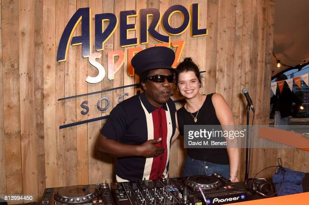 Norman Jay and Pixie Geldof attends the Aperol Spritz Social >> on July 13 2017 in London England