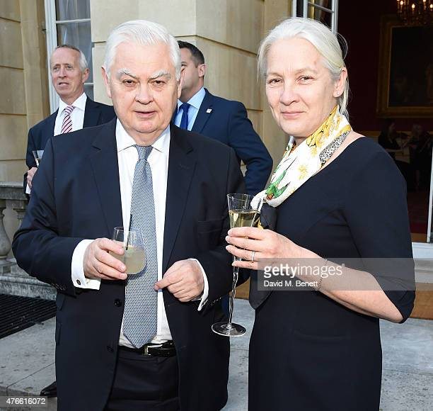 Norman lamont and Victoria Preston attend the Bell Pottinger Summer Party at Lancaster House on June 10 2015 in London England