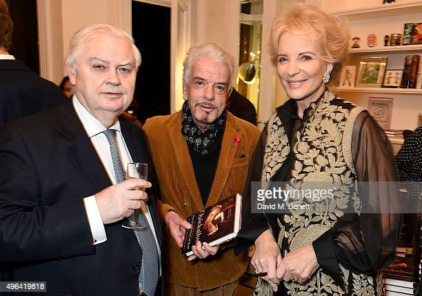 Norman Lamont Nicky Haslam and Princess Michael of Kent attend the launch of her book 'Quicksilver' the final volume of the Anjou trilogy at the home...