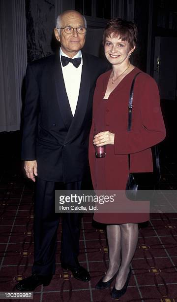 Norman Lear and Blair Brown attend Spirit of Liberty Awards Dinner Gala on November 24 1996 at the Waldorf Astoria Hotel in New York City