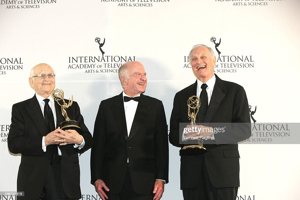 Norman Lear, Bruce Paisner, and Alan Alda attend the 40th Annual International Emmy Awards at the Hilton New York on November 19, 2012 in New York City.