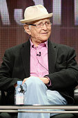 Norman Lear speaks onstage during the 'American Masters Norman Lear' panel discussion at the PBS portion of the 2015 Summer TCA Tour at The Beverly...