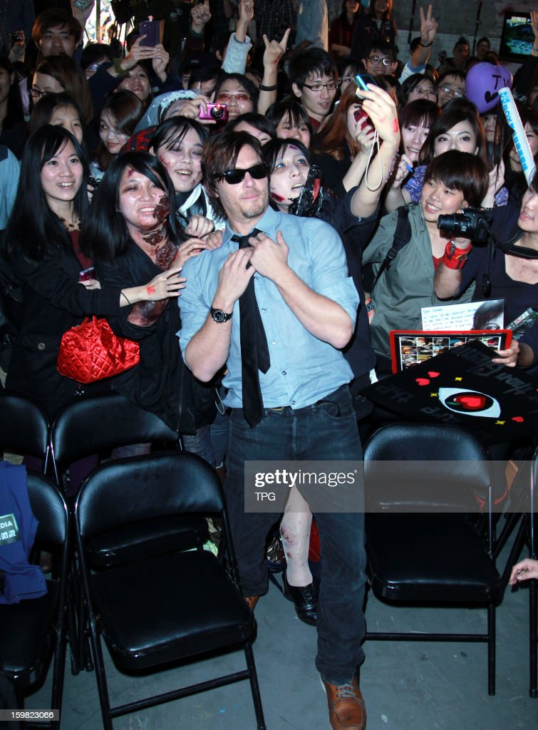 Norman Mark Reedus attended fans meeting activity of The Walking Dead on Sunday January 20, 2013 in Taipei, Taiwan, China.