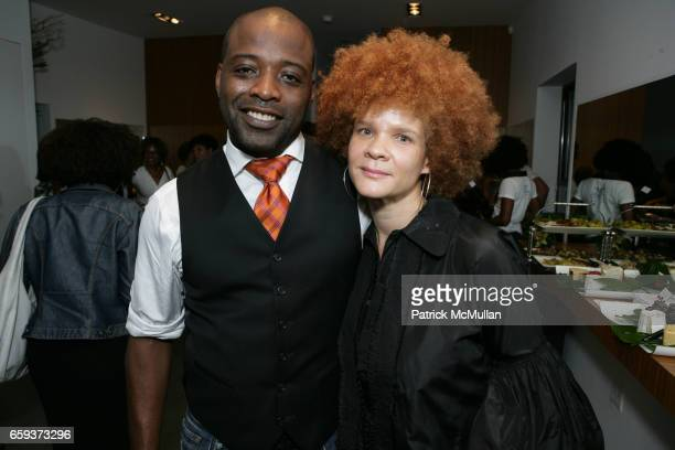 Norman McQ and Makayla guest attend HAIR RULES SALON Opening at 828 9th Ave on September 15 2009 in New York City