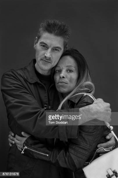 Norman poses for a picture with his girlfriend Samantha on November 1 2017 in Newcastle upon Tyne England Norman says 'Ive been on Universal Credit...