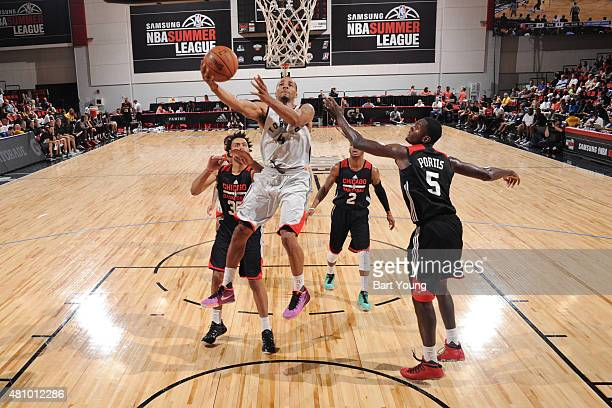 Norman Powell of the Toronto Raptors goes for the layup against the Chicago Bulls during the game on July 16 2015 at Cox Pavilion Las Vegas Nevada...
