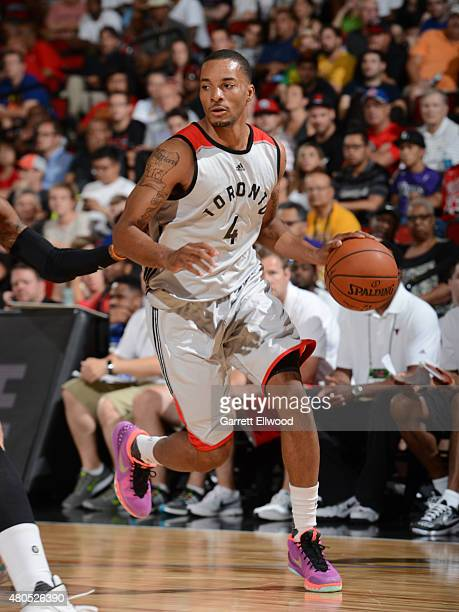 Norman Powell of the Toronto Raptors handles the ball against the Chicago Bulls on July 12 2015 at the Cox Pavilion in Las Vegas Nevada NOTE TO USER...