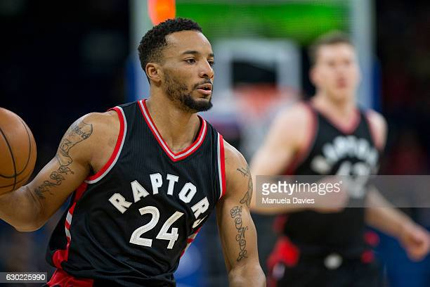 Norman Powell of the Toronto Raptors handles the ball against the Orlando Magic at Amway Center on December 18 2016 in Orlando Florida NOTE TO USER...