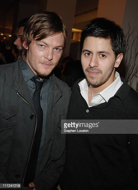 Norman Reedus and Brian Reyes during Brian Reyes Clebrates His Spring 2006 Collection Hosted by Maurice Villency at Maurice Villency Showroom in New...