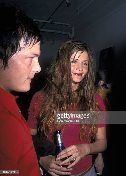 Norman Reedus and Helen Christensen during 1st Anniversary of Nylon Magazine Party at Skirt in New York City New York United States