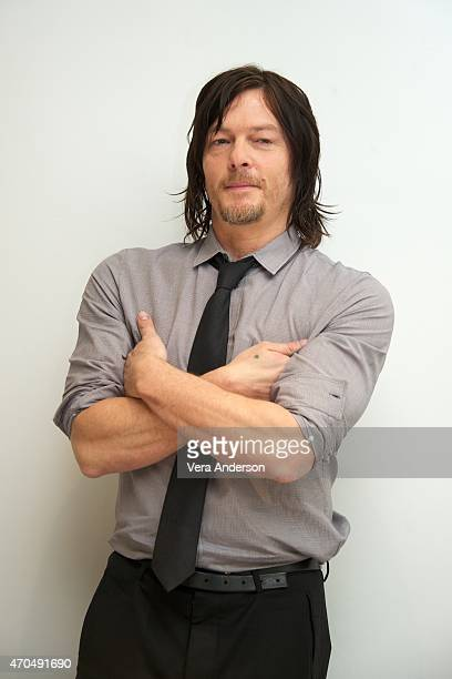 Norman Reedus at 'The Walking Dead' Press Conference at the Four Seasons Hotel on April 20 2015 in Beverly Hills California