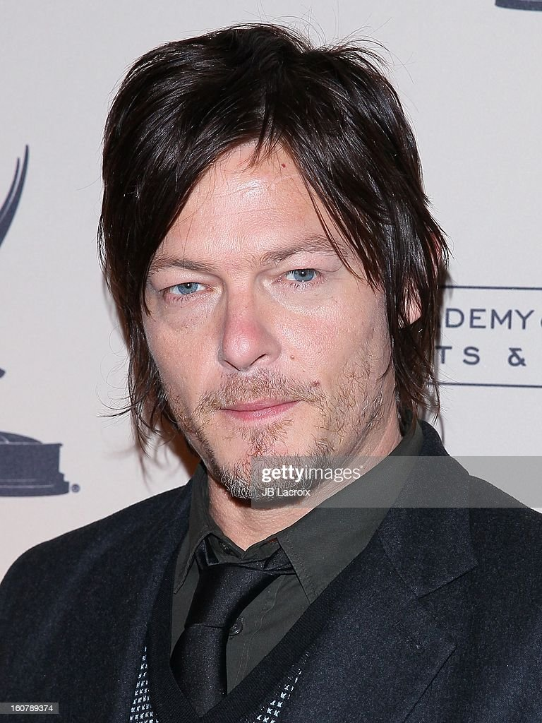 Norman Reedus attends an evening with 'The Walking Dead' presented by The Academy Of Television Arts & Sciences at Leonard H. Goldenson Theatre on February 5, 2013 in North Hollywood, California.