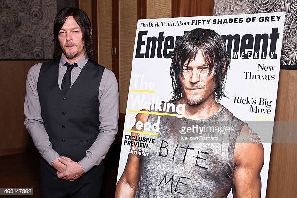 Norman Reedus attends an intimate dinner hosted by Entertainment Weekly to celebrate the magazines 'The Walking Dead' cover story on February 10 2015...