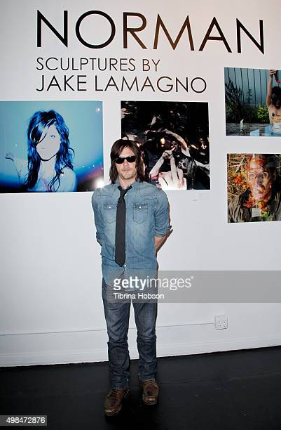 Norman Reedus attends his photography exhibition at Voila Gallery on November 22 2015 in Los Angeles California