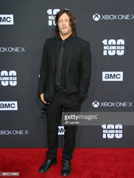 Norman Reedus attends the 100th episode celebration off 'The Walking Dead' at The Greek Theatre on October 22 2017 in Los Angeles California