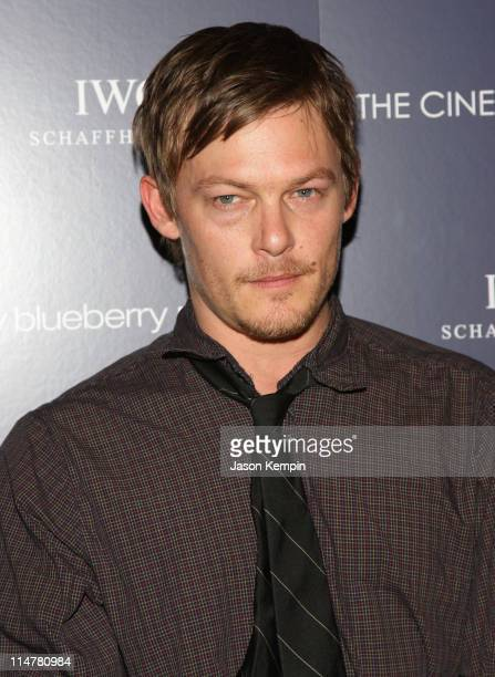 Norman Reedus attends The Cinema Society and IWC screening of 'My Blueberry Nights' at the Tribeca Grand Screening Room on April 2 2008 in New York...