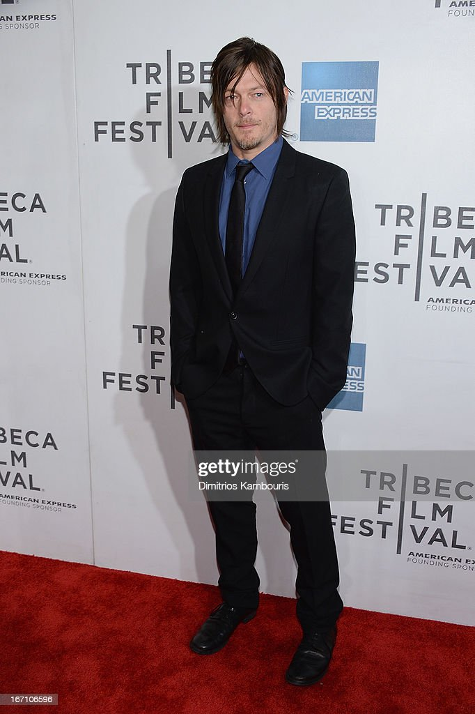 <a gi-track='captionPersonalityLinkClicked' href=/galleries/search?phrase=Norman+Reedus&family=editorial&specificpeople=747258 ng-click='$event.stopPropagation()'>Norman Reedus</a> attends the screening of 'Sunlight Jr.' during the 2013 Tribeca Film Festival at BMCC Tribeca PAC on April 20, 2013 in New York City.