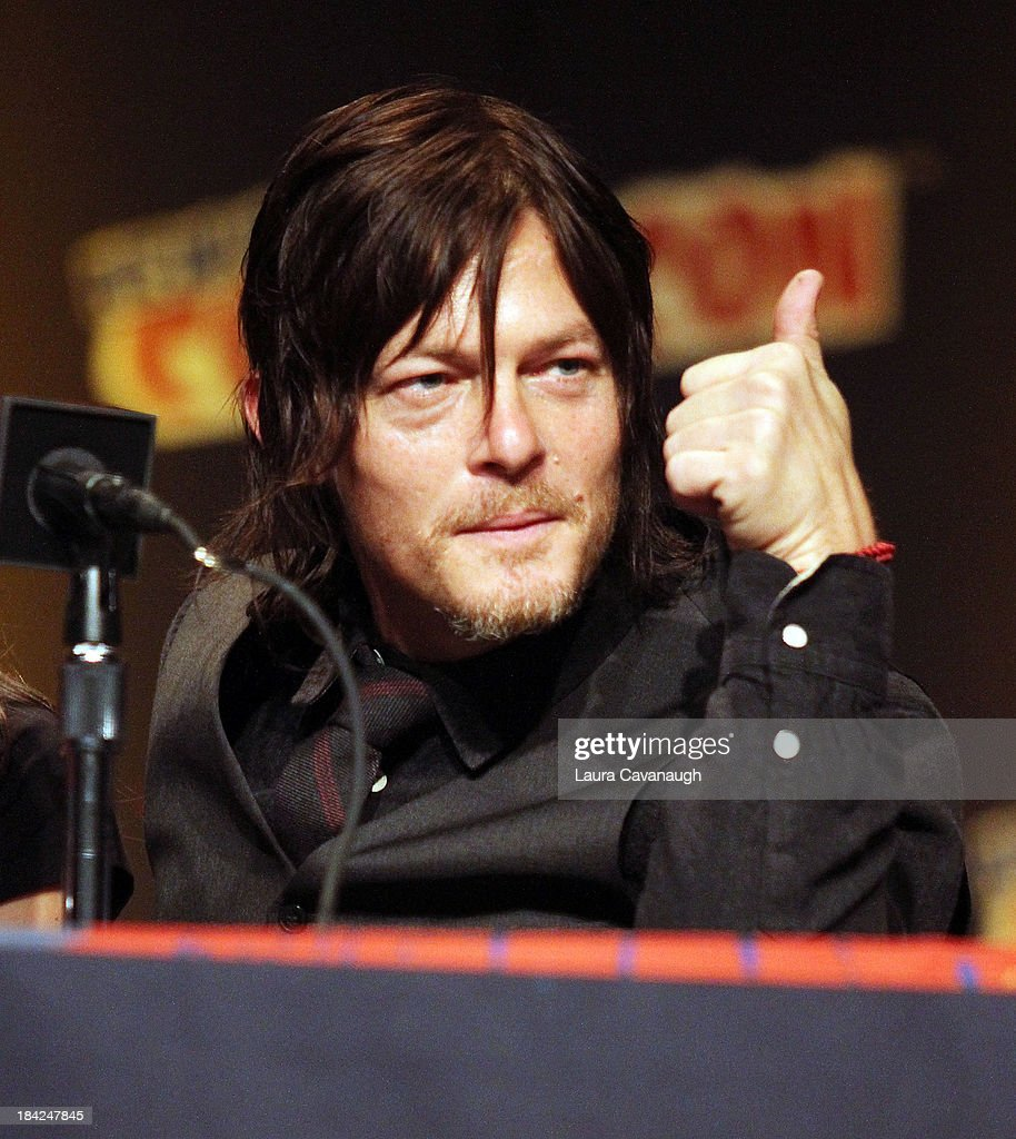 Norman Reedus attends 'The Walking Dead' Panel at New York Comic Con at Jacob Javits Center on October 12, 2013 in New York City.