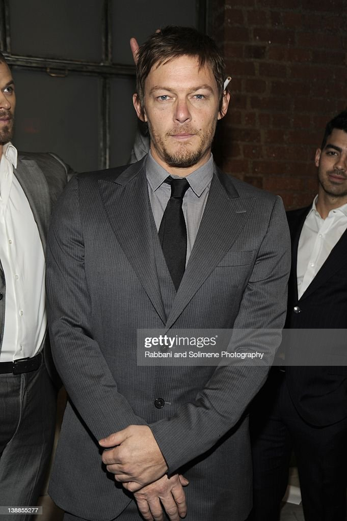 <a gi-track='captionPersonalityLinkClicked' href=/galleries/search?phrase=Norman+Reedus&family=editorial&specificpeople=747258 ng-click='$event.stopPropagation()'>Norman Reedus</a> backstage at the Simon Spurr fall 2012 fashion show during Mercedes-Benz Fashion Week at Milk Studios on February 12, 2012 in New York City.