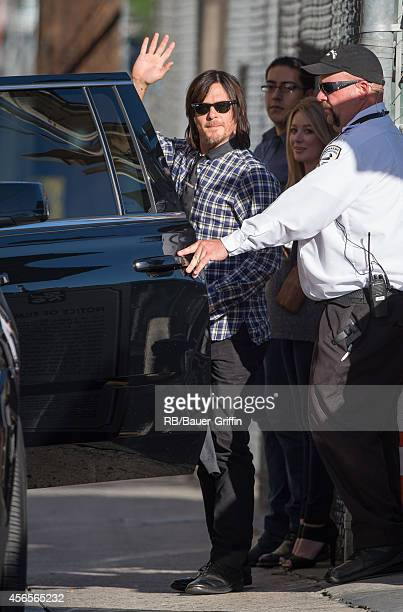 Norman Reedus is seen at 'Jimmy Kimmel Live' on October 02 2014 in Los Angeles California