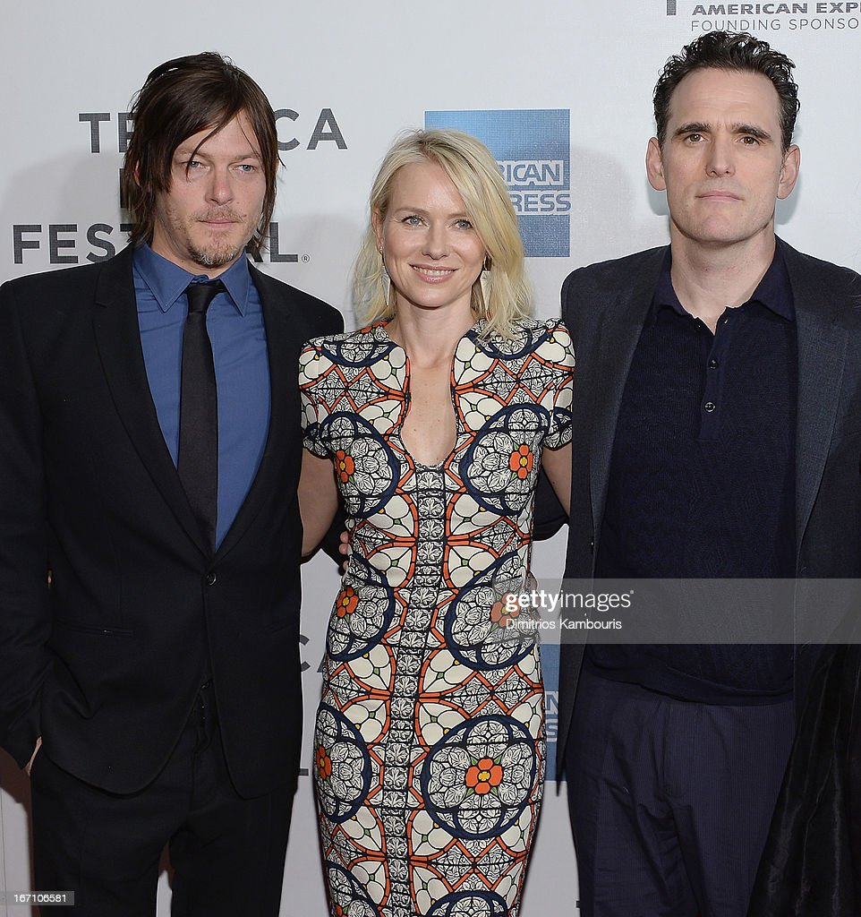 <a gi-track='captionPersonalityLinkClicked' href=/galleries/search?phrase=Norman+Reedus&family=editorial&specificpeople=747258 ng-click='$event.stopPropagation()'>Norman Reedus</a>, <a gi-track='captionPersonalityLinkClicked' href=/galleries/search?phrase=Naomi+Watts&family=editorial&specificpeople=171723 ng-click='$event.stopPropagation()'>Naomi Watts</a> and Matt Dillion attend the screening of 'Sunlight Jr.' during the 2013 Tribeca Film Festival at BMCC Tribeca PAC on April 20, 2013 in New York City.