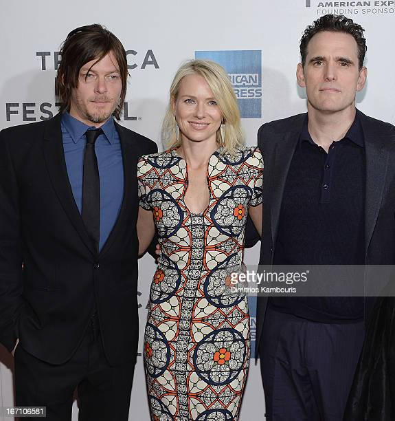 Norman Reedus Naomi Watts and Matt Dillion attend the screening of 'Sunlight Jr' during the 2013 Tribeca Film Festival at BMCC Tribeca PAC on April...
