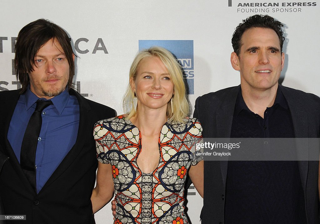 Norman Reedus, Naomi Watts and Matt Dillon attend the screening of 'Sunlight Jr.' during the 2013 Tribeca Film Festival at BMCC Tribeca PAC on April 20, 2013 in New York City.