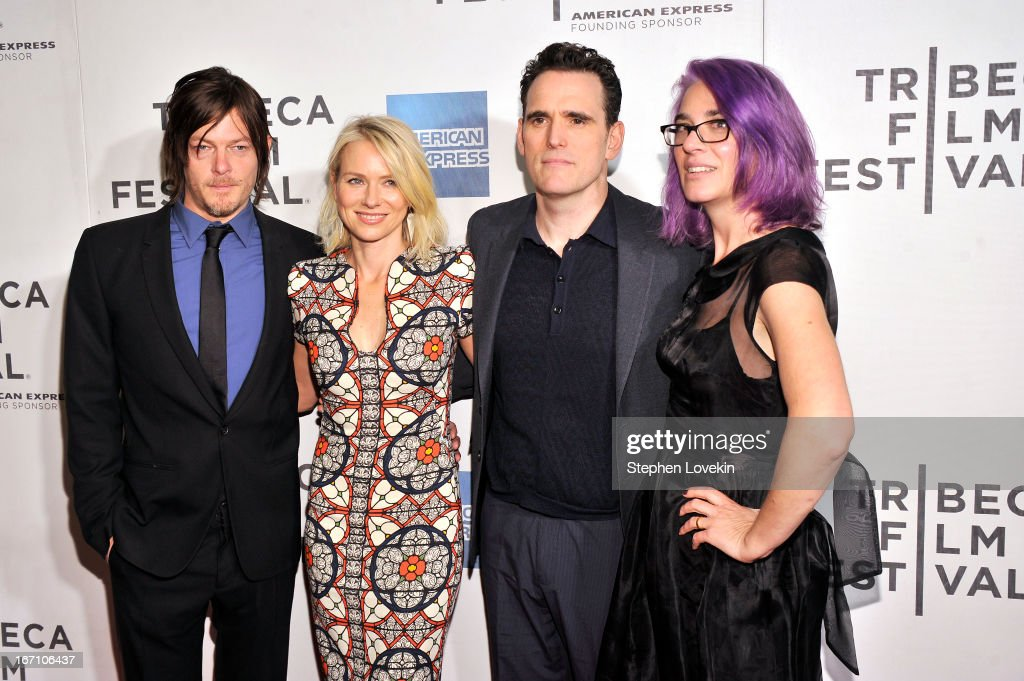 <a gi-track='captionPersonalityLinkClicked' href=/galleries/search?phrase=Norman+Reedus&family=editorial&specificpeople=747258 ng-click='$event.stopPropagation()'>Norman Reedus</a>, <a gi-track='captionPersonalityLinkClicked' href=/galleries/search?phrase=Naomi+Watts&family=editorial&specificpeople=171723 ng-click='$event.stopPropagation()'>Naomi Watts</a>, Matt Dillion and director <a gi-track='captionPersonalityLinkClicked' href=/galleries/search?phrase=Laurie+Collyer&family=editorial&specificpeople=761570 ng-click='$event.stopPropagation()'>Laurie Collyer</a> attend the 'Sunlight Jr.' World Premiere during the 2013 Tribeca Film Festival on April 20, 2013 in New York City.