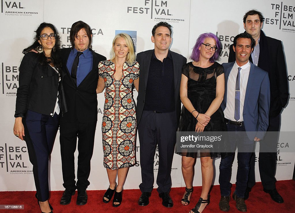 Norman Reedus, Naomi Watts, Matt Dillon, Director Laurie Collyer and Matt Corwin attend the screening of 'Sunlight Jr.' during the 2013 Tribeca Film Festival at BMCC Tribeca PAC on April 20, 2013 in New York City.